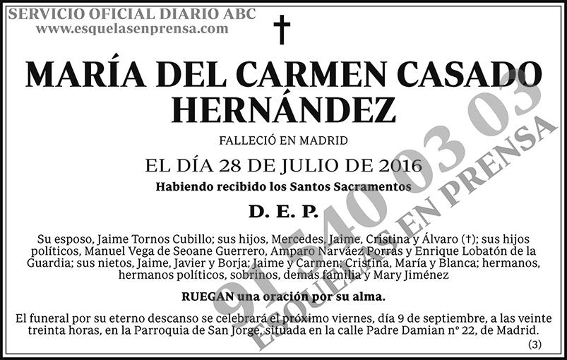 María del Carmen Casado Hernández